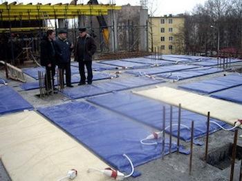 Тепляки для бетонирования (электроматы)