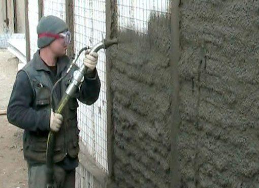 Торкретирование стены своими руками