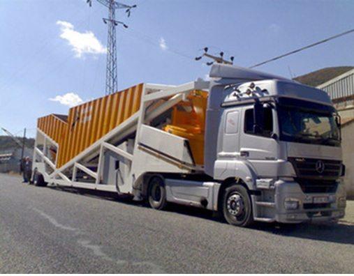 Транспортирование линии по производству бетона.