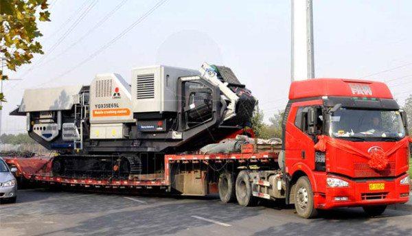 Транспортировка мобильного оборудования колесным транспортом