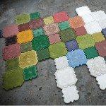 Тротуарная плитка из цветного бетона