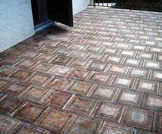 Тротуарная плитка с фотолюминофорными добавками