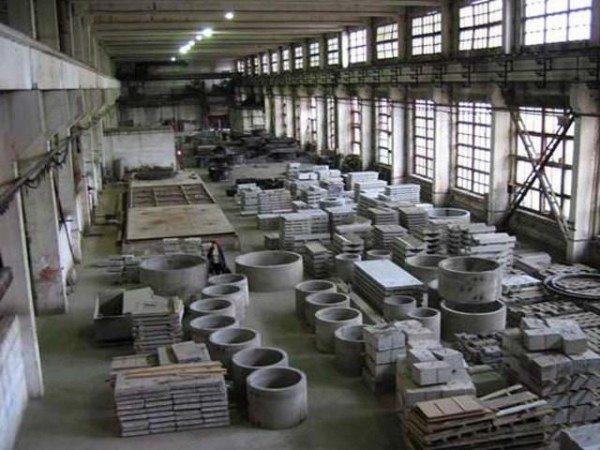 Цех по производству ЖБИ.