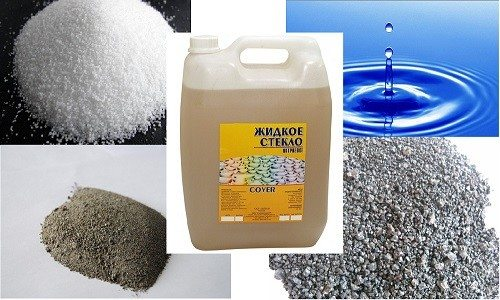 Цемент, глинозем, жидкое стекло и т.д. способствуют удержанию воды