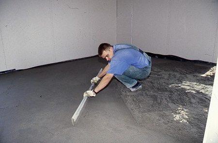 Цементное покрытие – лучший способ выровнять и укрепить пол