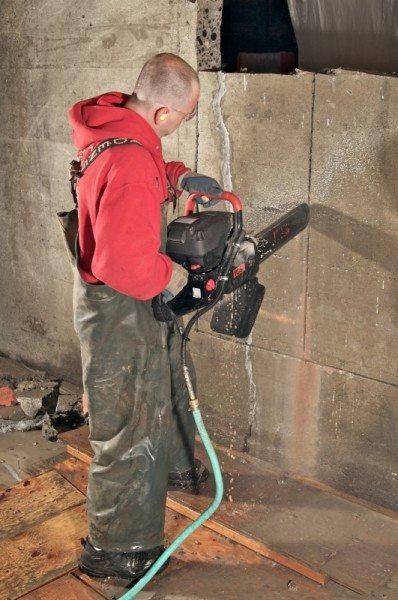 Цепная пила по бетону позволяет производить резку ЖБИ и монолитных конструкций.