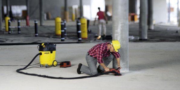 Уборка пыли на стройплощадке