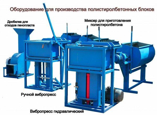 Установка для производства на вибропрессе