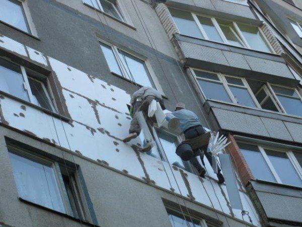 Утепление квартиры многоэтажного жилого дома с привлечением промышленных альпинистов.