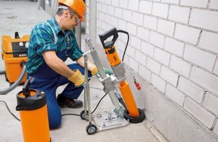 В некоторых случаях для удаления поврежденных частей используется алмазное бурение отверстий в бетоне