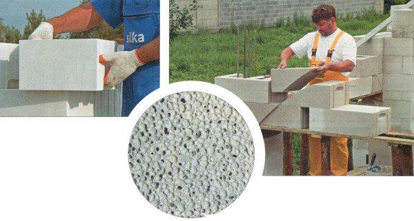 В отличие от пенобетона, блоки из газобетона имеют одинаковые по своему размеру пузырьки воздуха, что значительно повышает их способность удерживать тепло и звук
