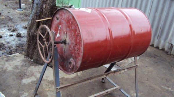Вариант самостоятельного изготовления бетономешалки