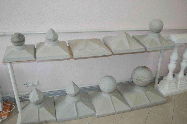 Виды бетонных колпаков