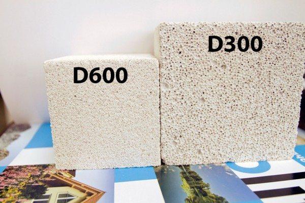 Визуальные отличия материала разной плотности