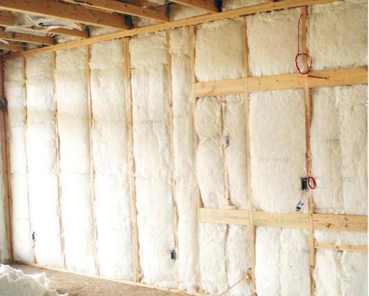 Внутреннее утепление стен плитами минваты.