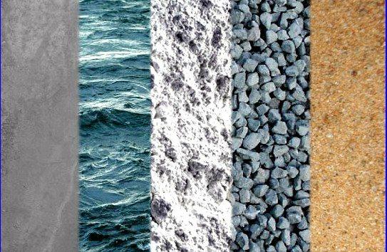 Вода, цемент, гравий и песок – всё, что нужно для приготовления бетона трёхсотой марки
