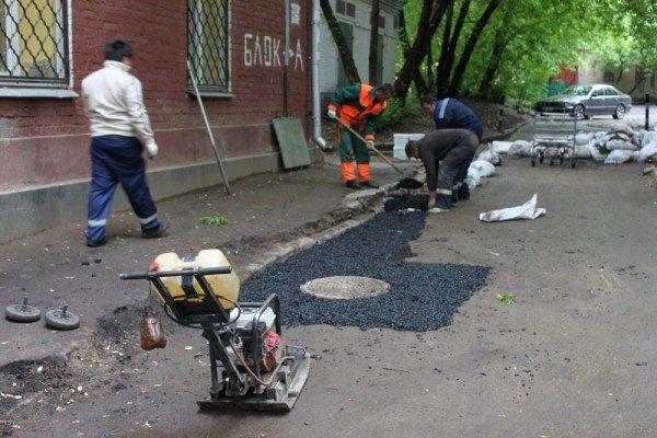 Восстановление покрытия после произведения ремонтных работ