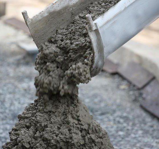 Выгрузка бетона.