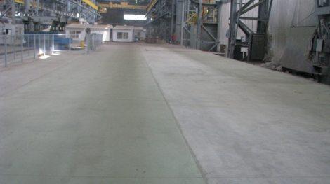 Выполненная литым бетоном стяжка