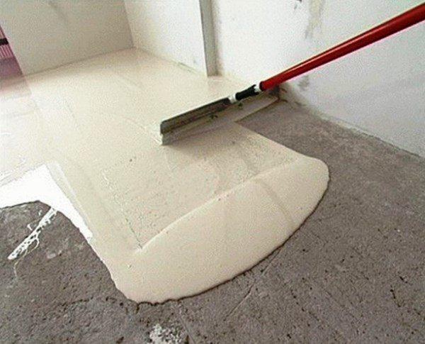 Выравнивание поверхности с использованием нивелирующей смеси