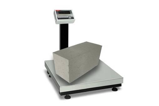 Взвешивание бетонного блока