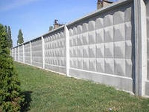 Забор из цельных панелей