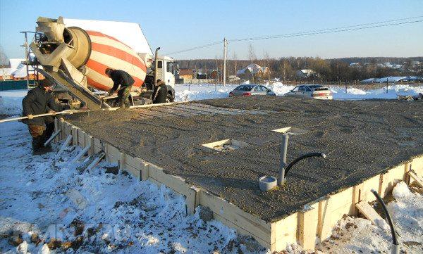 Заливка бетона при минусовой температуре