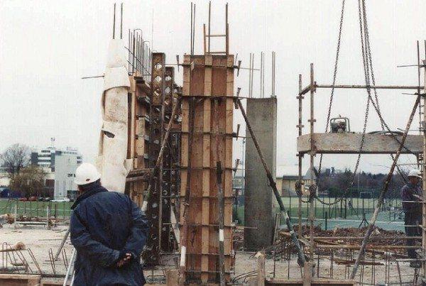 Заливка монолитных изделий на стройплощадке