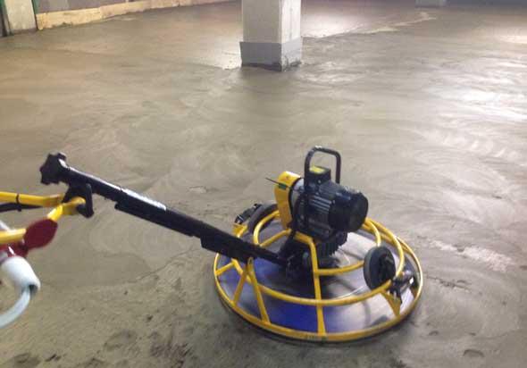 Затирочная машина для бетона однороторного типа