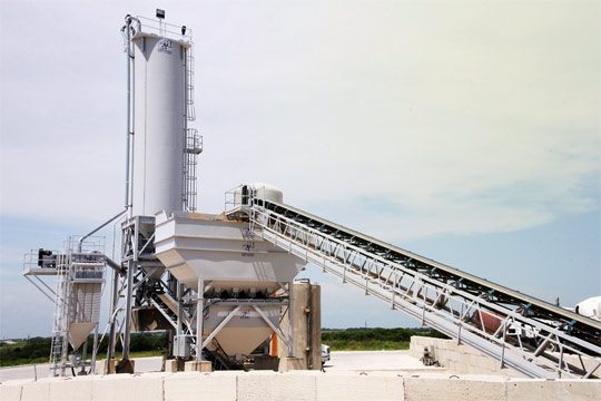 Заводское приготовление сухих бетонных смесей