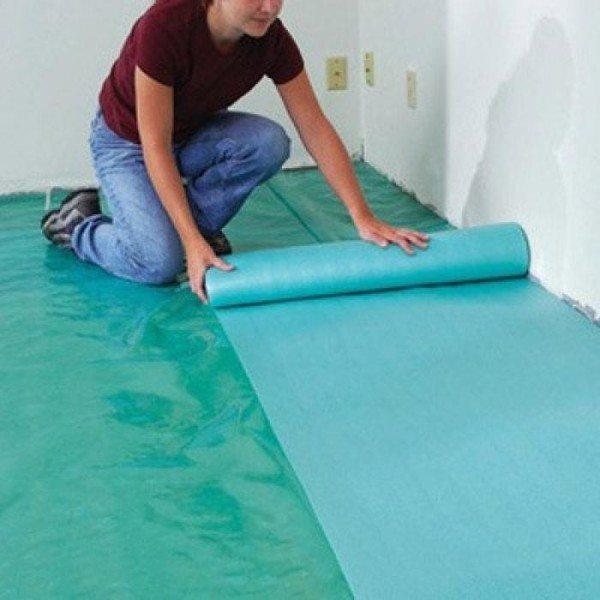 Звукоизоляционная подложка на бетонный пол под ламинат